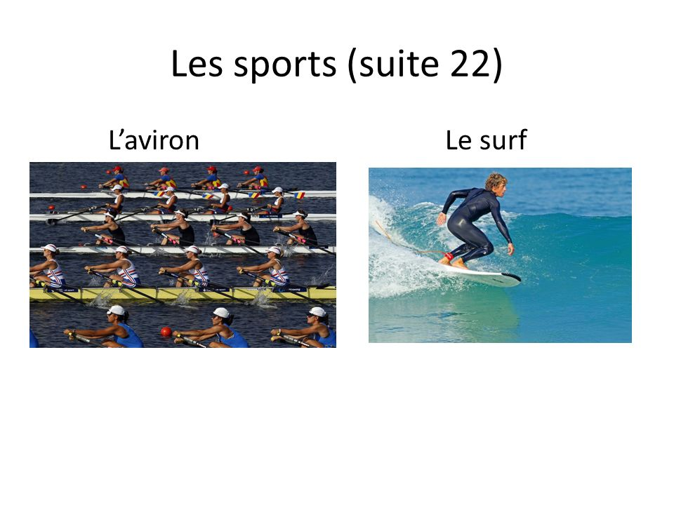 Les sports (suite 22) LavironLe surf