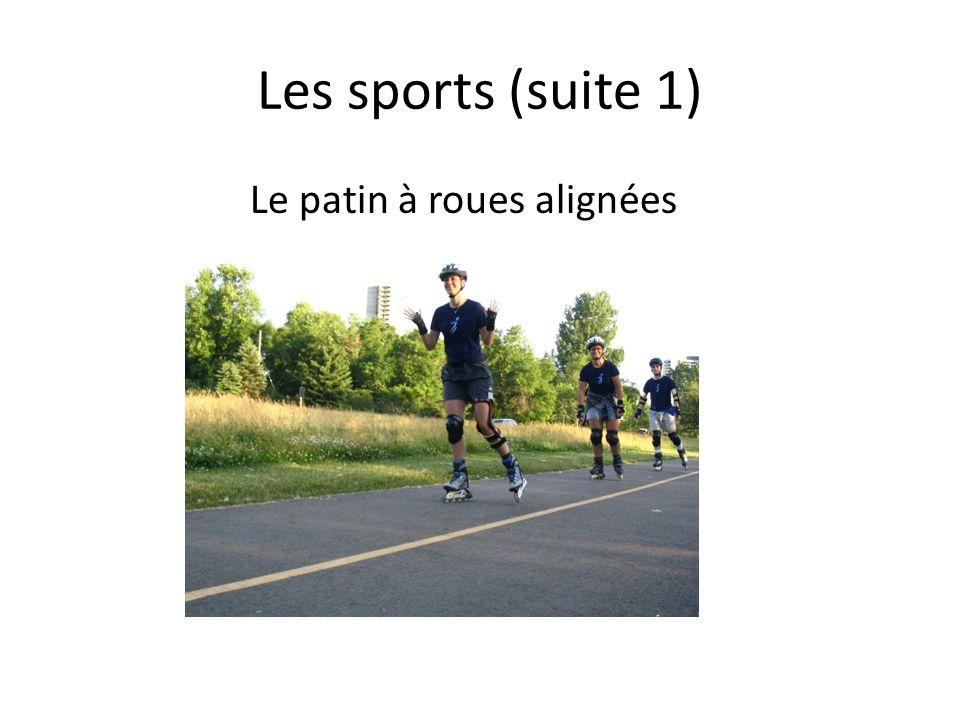 Les sports (suite 1) Le patin à roues alignées