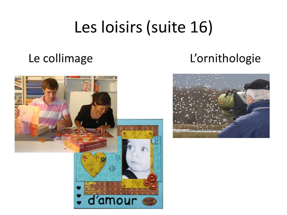 Les loisirs (suite 16) Le collimageLornithologie