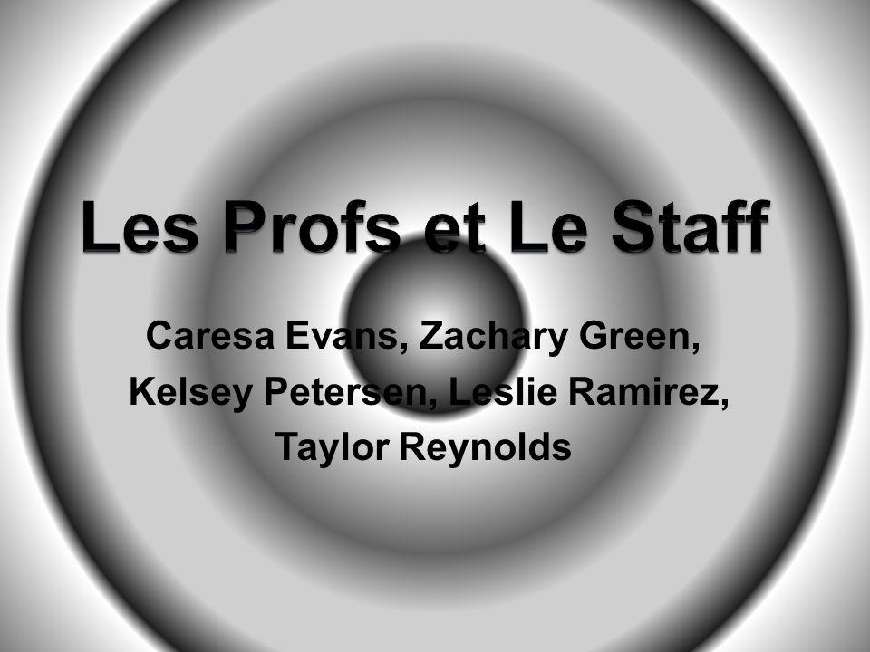 Caresa Evans, Zachary Green, Kelsey Petersen, Leslie Ramirez, Taylor Reynolds