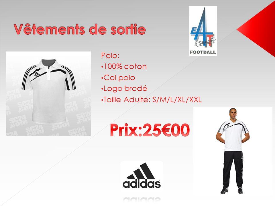 Pour lété Maillot: 60% coton/ 40% polyester Logo brodé Taille Adulte: S/M/L/XL/XXL