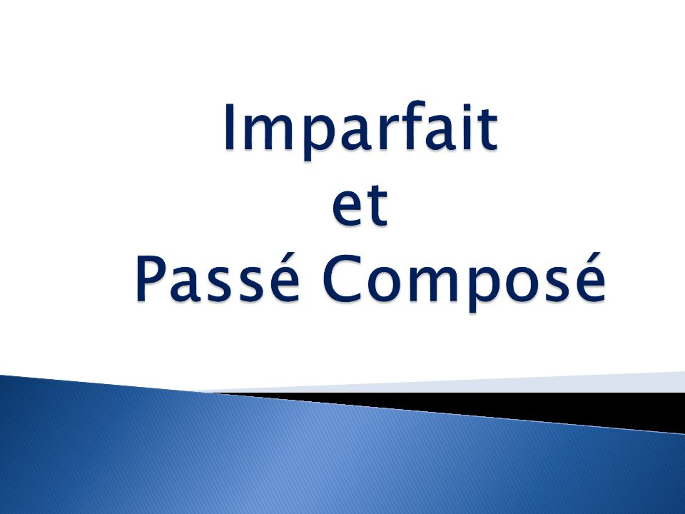 Remember that the passé composé is used to express completed past actions.
