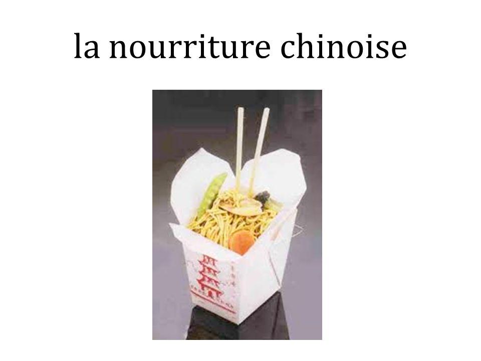 la nourriture chinoise