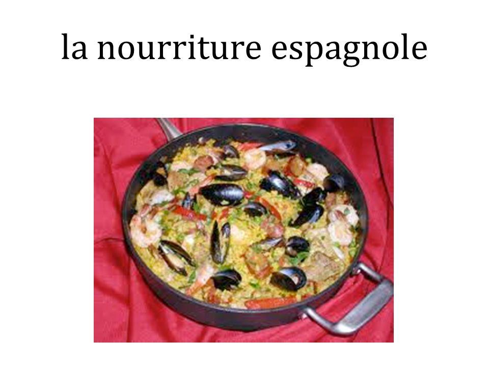 la nourriture espagnole