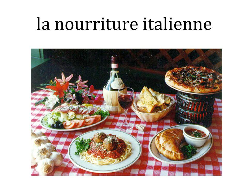 la nourriture italienne
