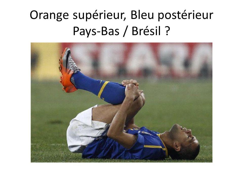 Orange supérieur, Bleu postérieur Pays-Bas / Brésil ?