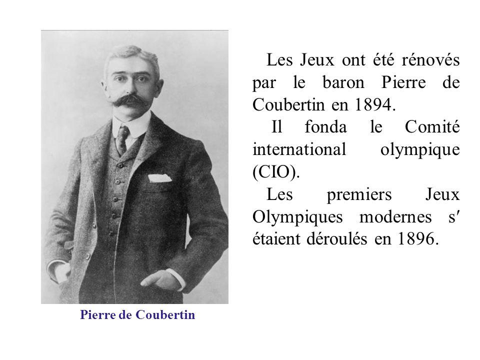 Les Jeux ont été rénovés par le baron Pierre de Coubertin en 1894. Il fonda le Comité international olympique (CIO). Les premiers Jeux Olympiques mode