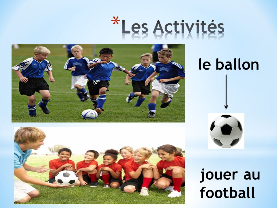 jouer au football le ballon