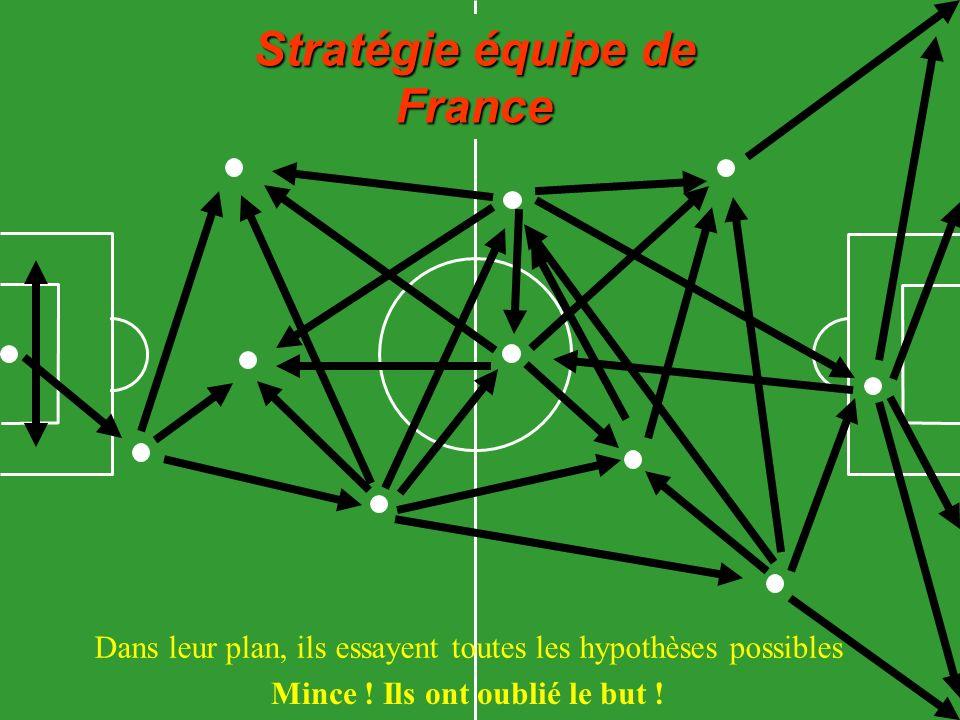Stratégie équipe de France Dans leur plan, ils essayent toutes les hypothèses possibles Mince .