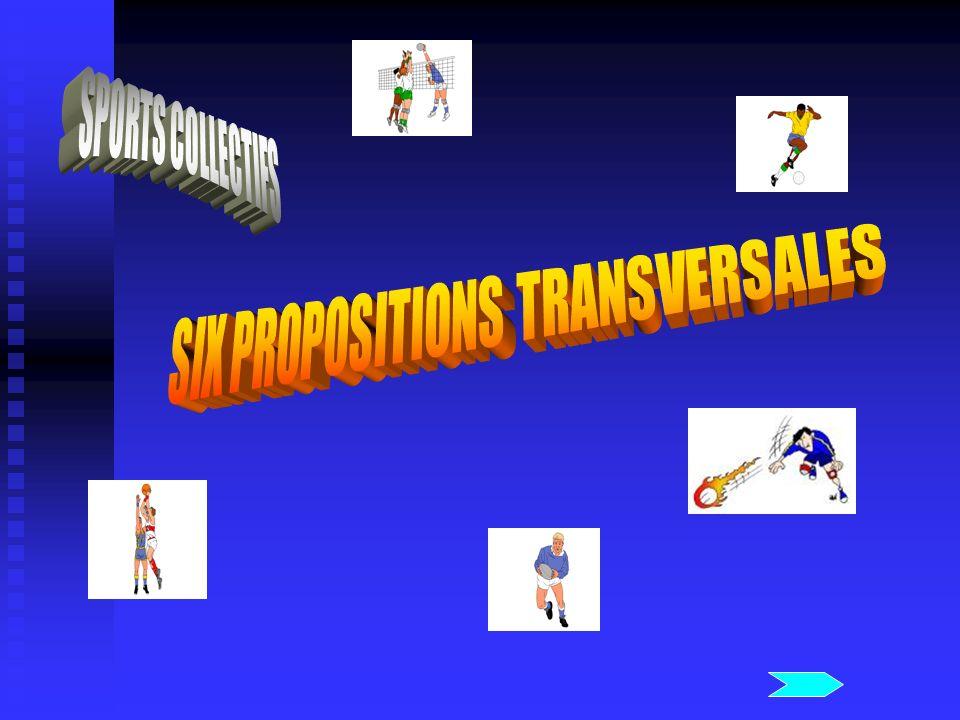 APPROCHE TRANSVERSALE DES SPORTS COLLECTIFS Première intention : Comment procéder à un traitement homogène des sports collectifs .