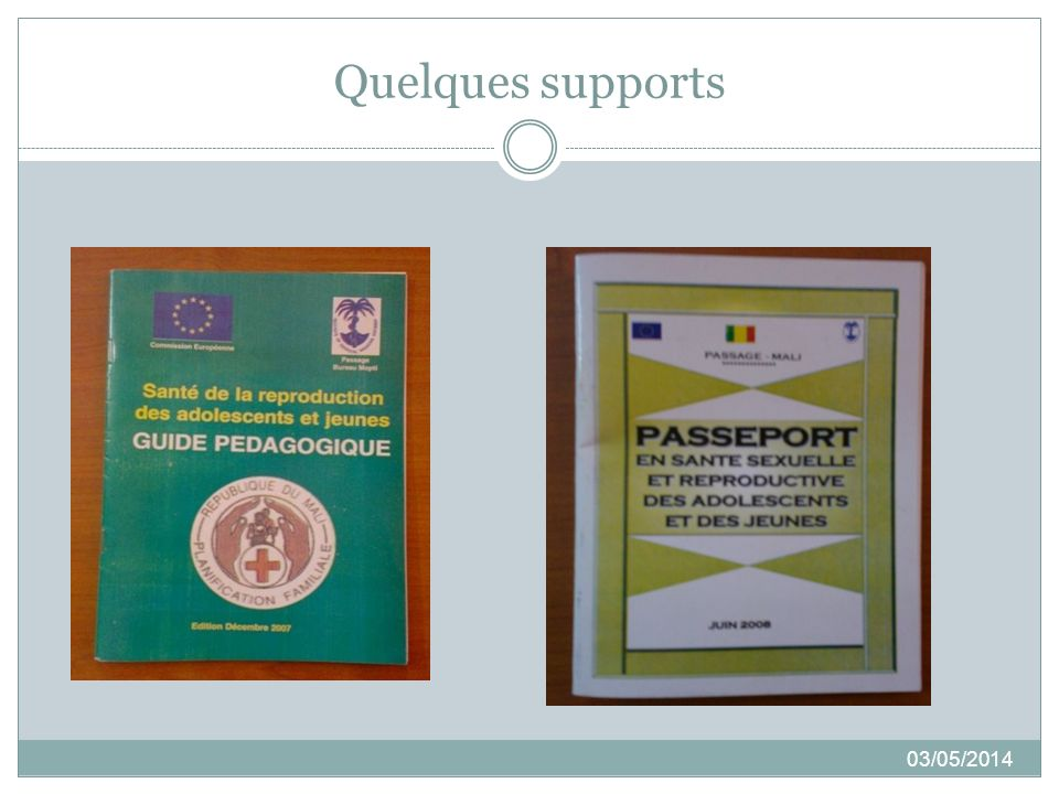 Quelques supports 03/05/2014