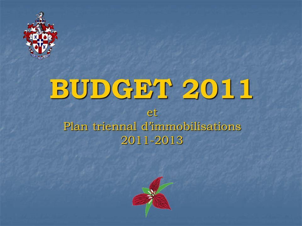 BUDGET 2011 et Plan triennal dimmobilisations 2011-2013