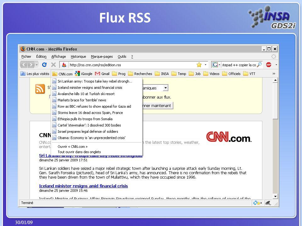 30/01/09 Flux RSS