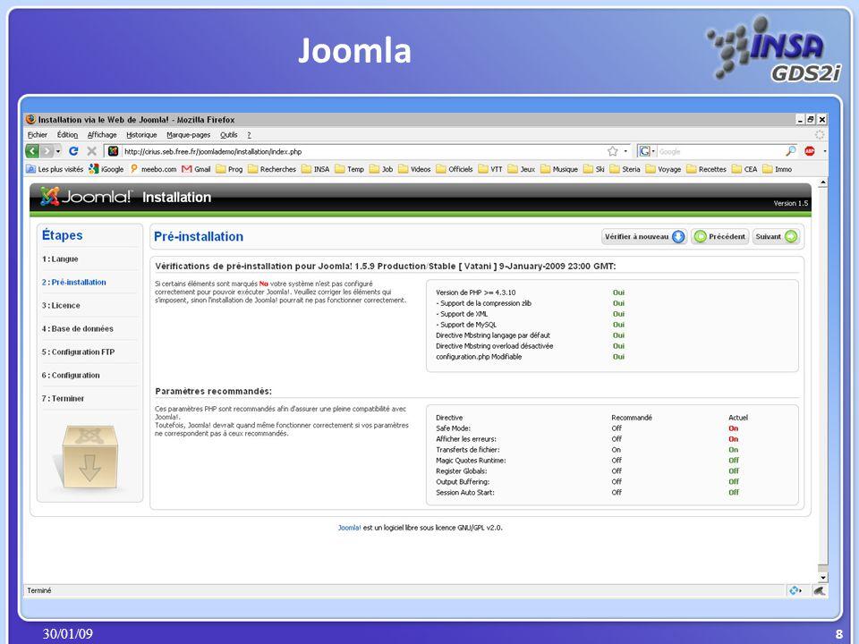 30/01/09 Joomla 9