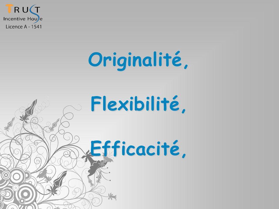 Originalité,Flexibilité,Efficacité,