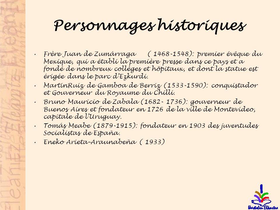 Personnages historiques Frère Juan de Zumárraga ( 1468-1548): premier évêque du Mexique, qui a établi la première presse dans ce pays et a fondé de no