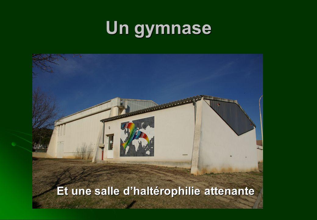 Un gymnase Et une salle dhaltérophilie attenante
