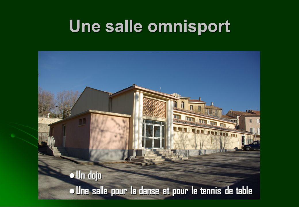 Une salle omnisport Un dojo Un dojo Une salle pour la danse et pour le tennis de table Une salle pour la danse et pour le tennis de table