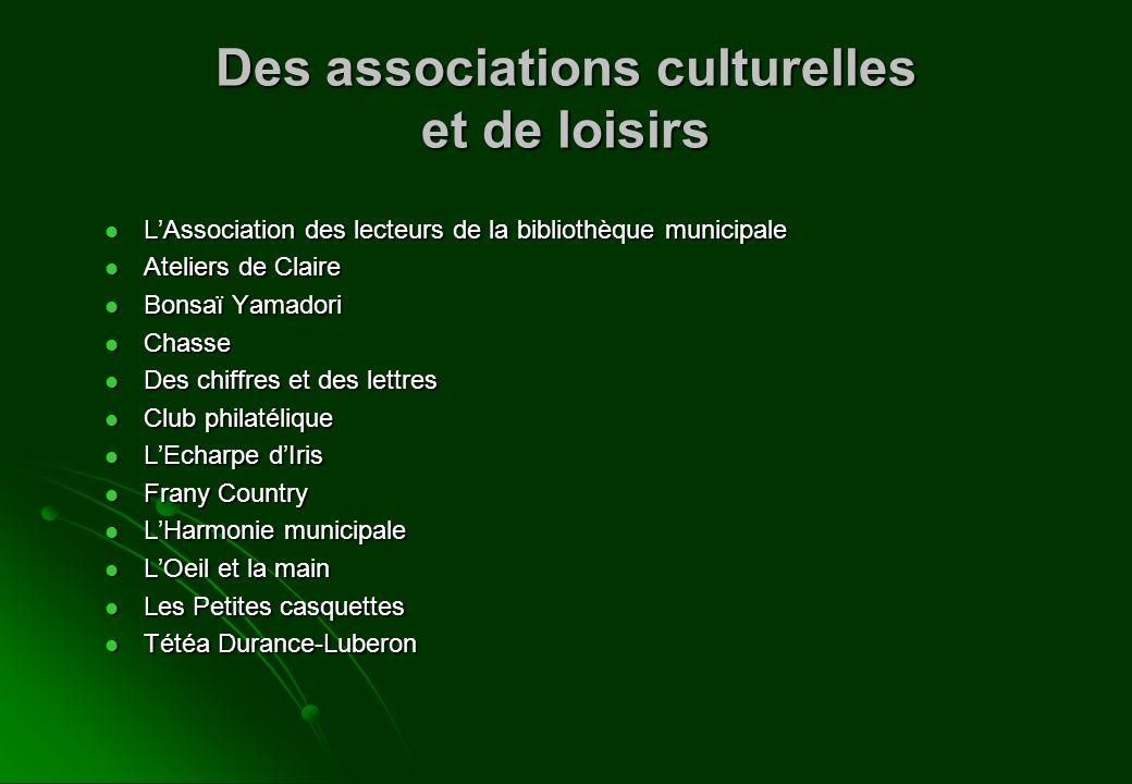 Des associations culturelles et de loisirs LAssociation des lecteurs de la bibliothèque municipale LAssociation des lecteurs de la bibliothèque munici