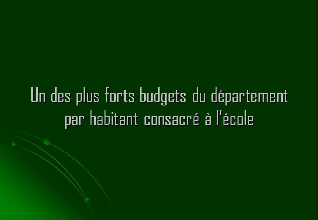 Un des plus forts budgets du département par habitant consacré à lécole