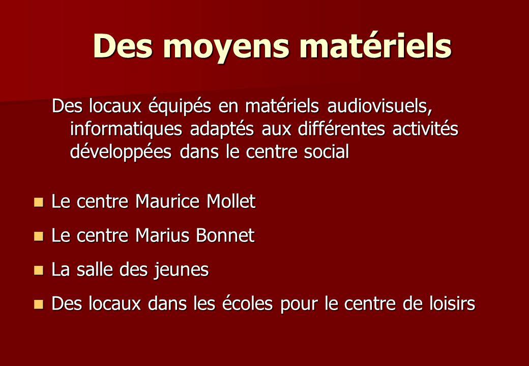 Le centre Maurice Mollet Le centre Maurice Mollet Le centre Marius Bonnet Le centre Marius Bonnet La salle des jeunes La salle des jeunes Des locaux d