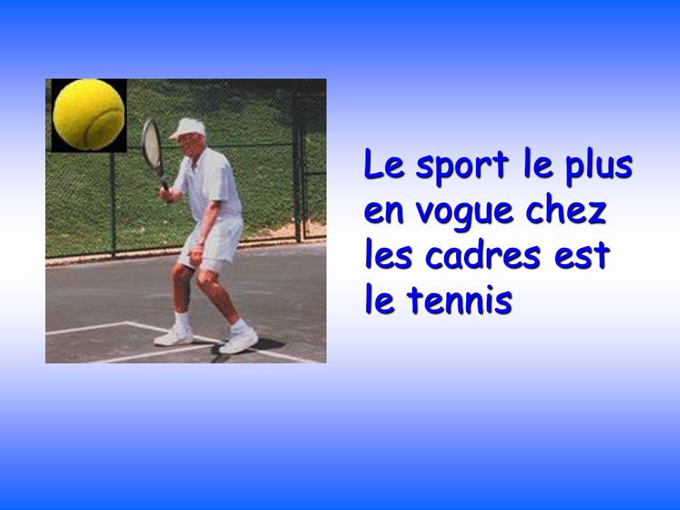 Le sport le plus en vogue chez les cadres est le tennis