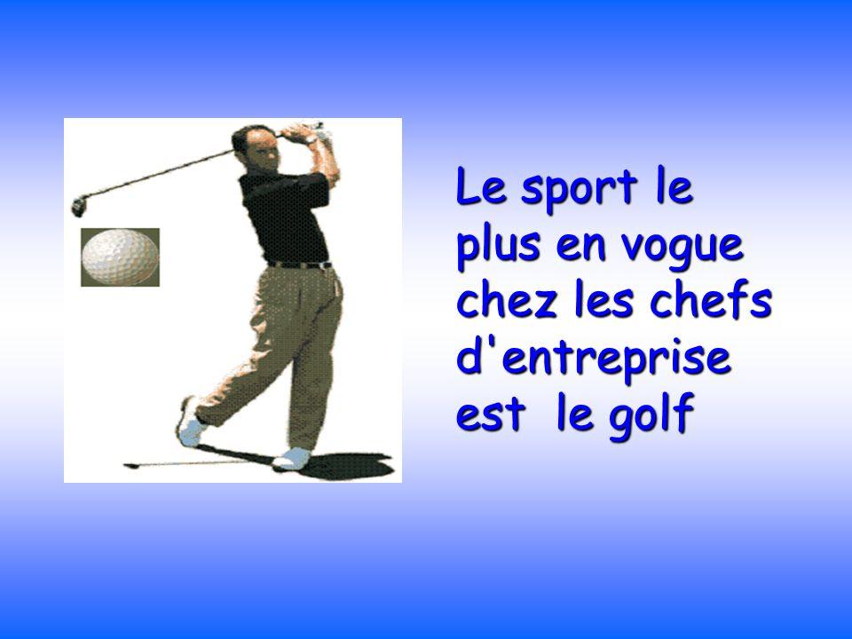 Le sport le plus en vogue chez les chefs d entreprise est le golf