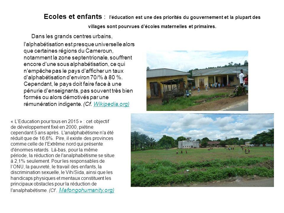 Ecoles et enfants : léducation est une des priorités du gouvernement et la plupart des villages sont pourvues décoles maternelles et primaires.