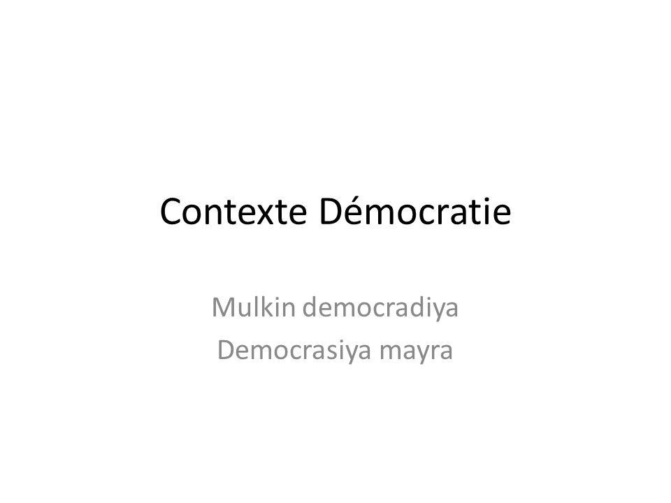 Contexte Démocratie Mulkin democradiya Democrasiya mayra