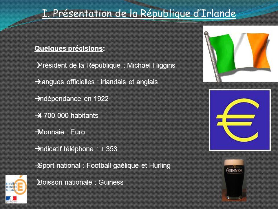 I. Présentation de la République dIrlande