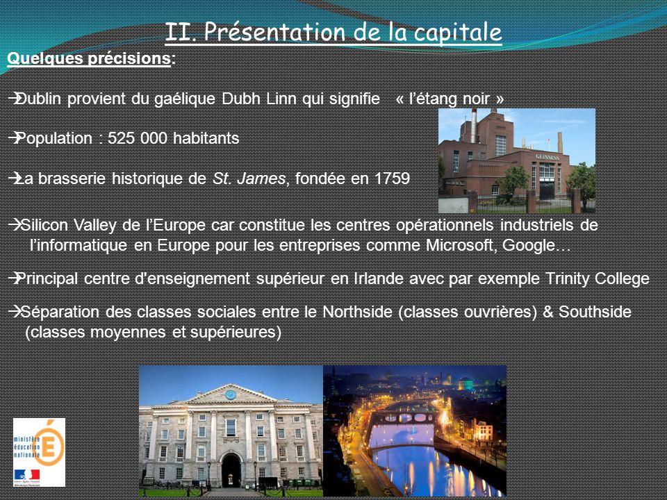 II. Présentation de la capitale