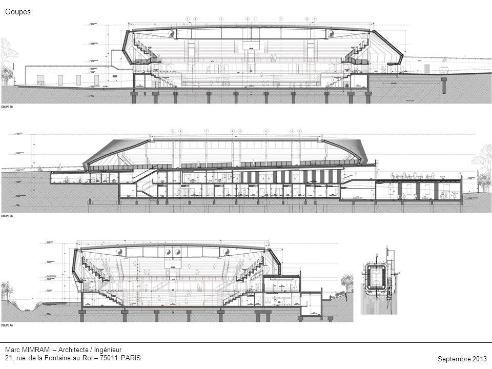 Marc MIMRAM – Architecte / Ingénieur 21, rue de la Fontaine au Roi – 75011 PARIS Elévations Septembre 2013 Coupes