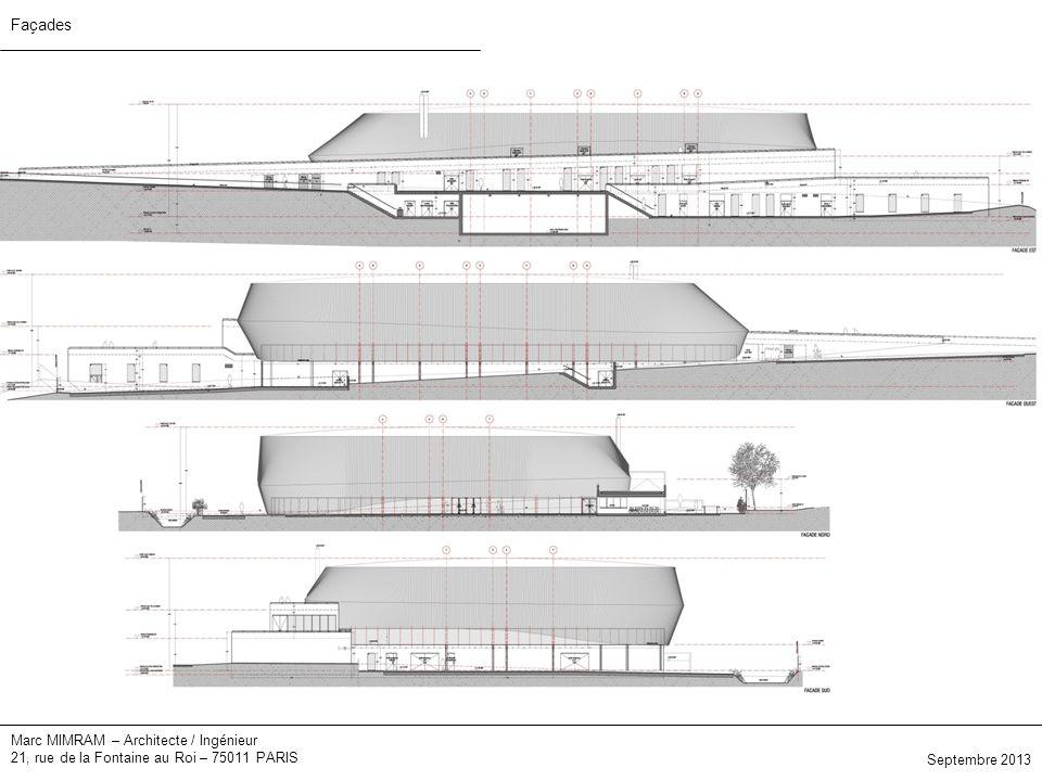 Marc MIMRAM – Architecte / Ingénieur 21, rue de la Fontaine au Roi – 75011 PARIS Septembre 2013 Façades