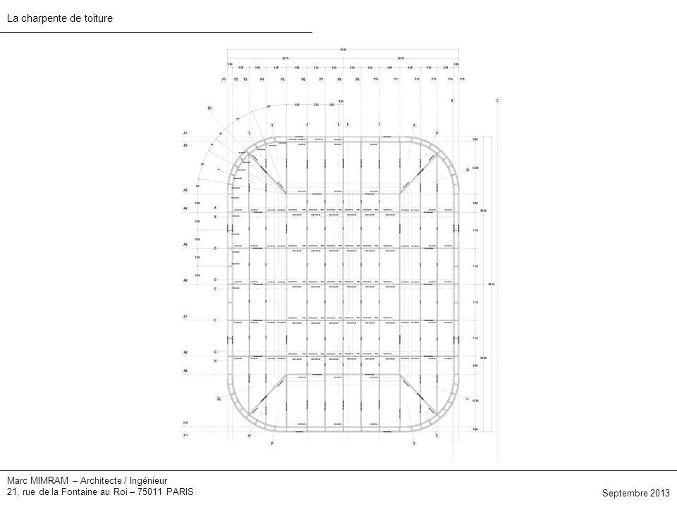 Marc MIMRAM – Architecte / Ingénieur 21, rue de la Fontaine au Roi – 75011 PARIS La charpente de toiture Septembre 2013