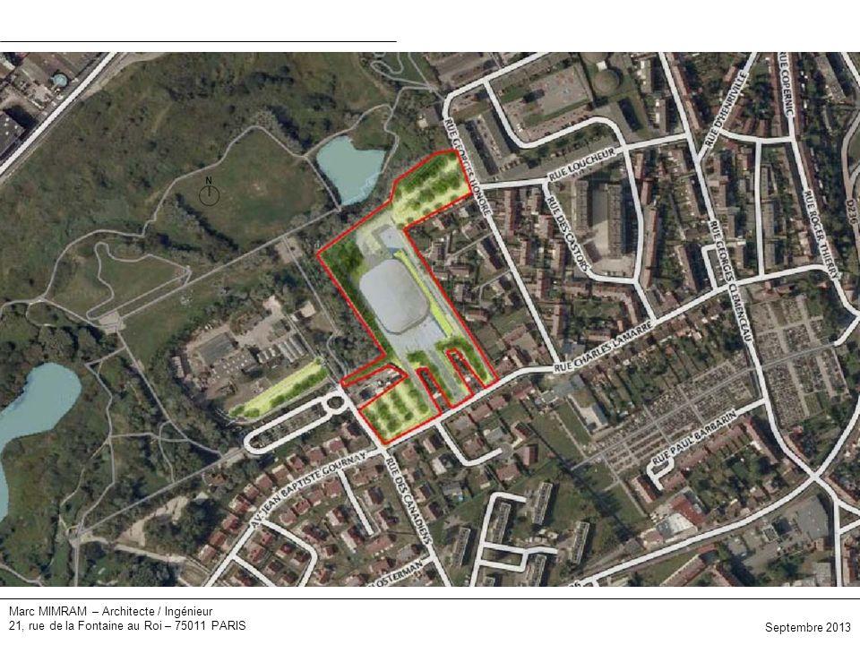 Marc MIMRAM – Architecte / Ingénieur 21, rue de la Fontaine au Roi – 75011 PARIS Plan masse Septembre 2013