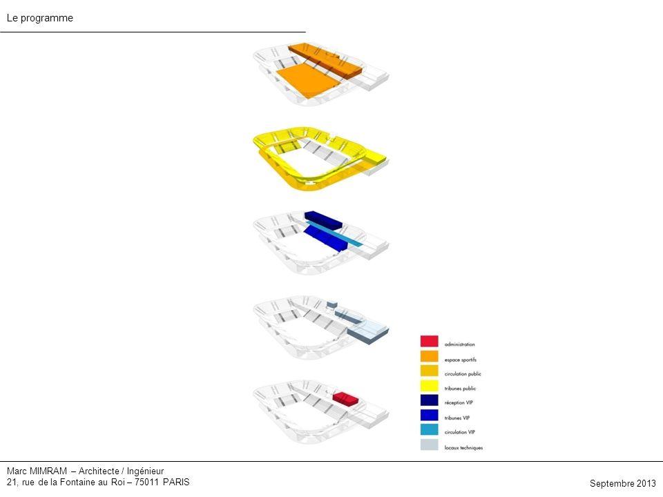 Marc MIMRAM – Architecte / Ingénieur 21, rue de la Fontaine au Roi – 75011 PARIS Septembre 2013 Le programme