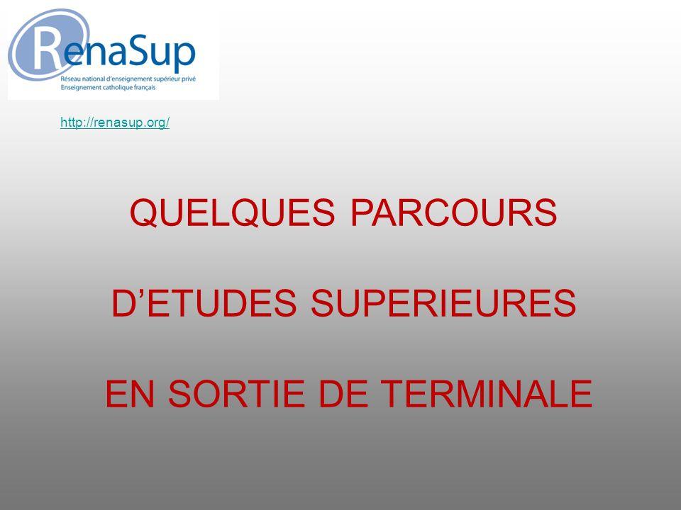 QUELQUES PARCOURS DETUDES SUPERIEURES EN SORTIE DE TERMINALE http://renasup.org/
