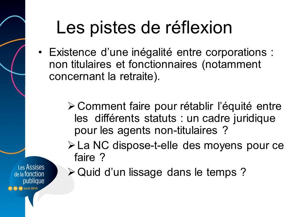 Existence dune inégalité entre corporations : non titulaires et fonctionnaires (notamment concernant la retraite).