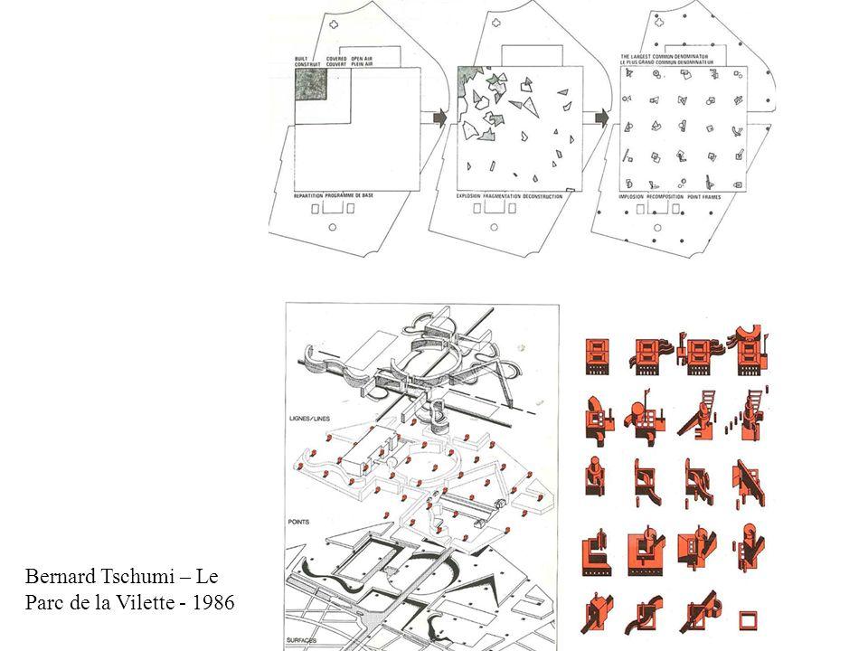 Bernard Tschumi – Le Parc de la Vilette - 1986