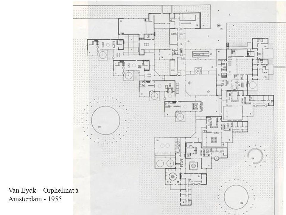 Van Eyck – Orphelinat à Amsterdam - 1955
