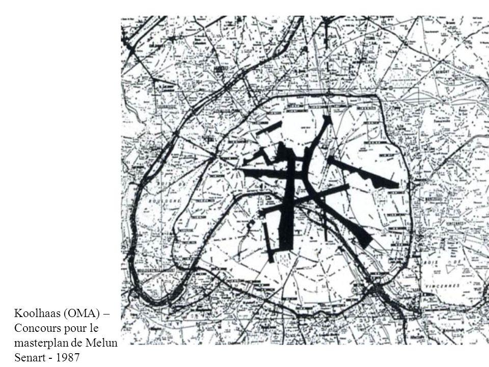 Koolhaas (OMA) – Concours pour le masterplan de Melun Senart - 1987