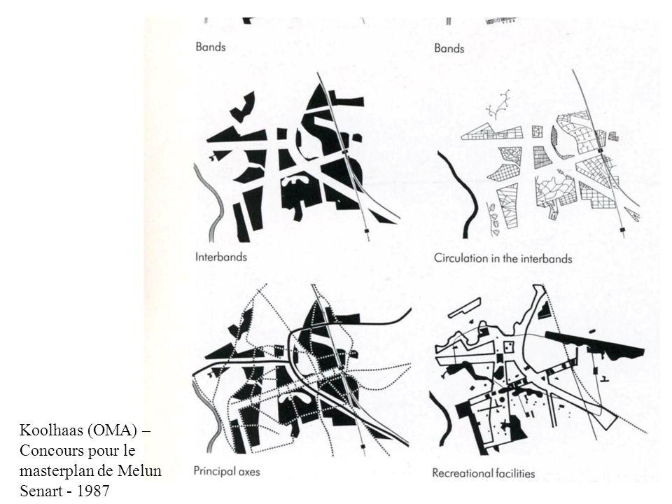 Koolhaas (OMA) – Concours pour le Parc de la Vilette - 1986