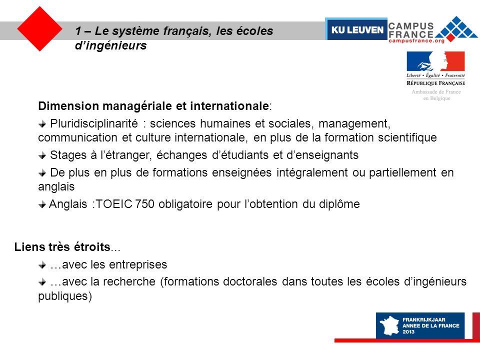 1 – les écoles de commerce et de Management « Lexcellence de lenseignement supérieur français .