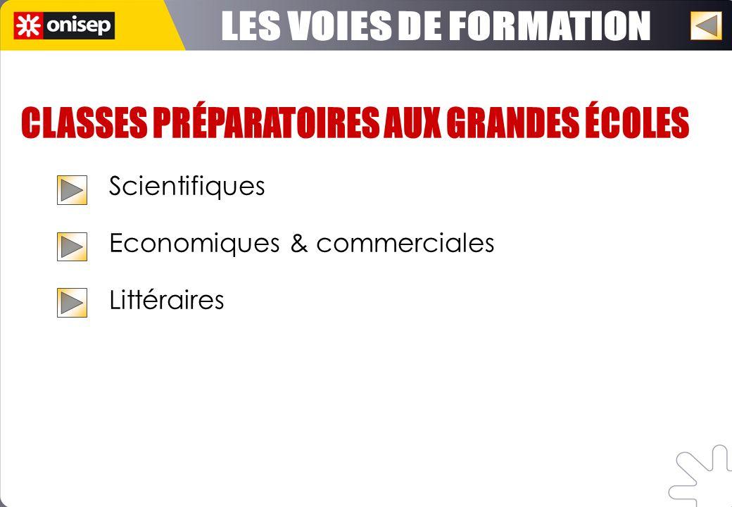 Scientifiques Economiques & commerciales Littéraires