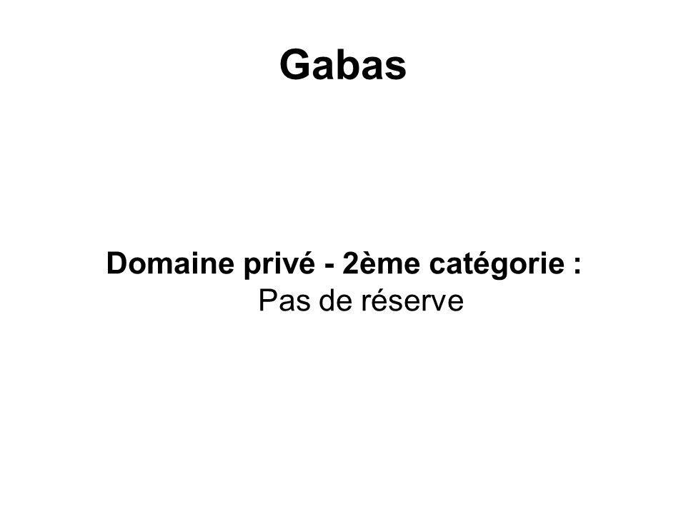 Gabas Domaine privé - 2ème catégorie : Pas de réserve