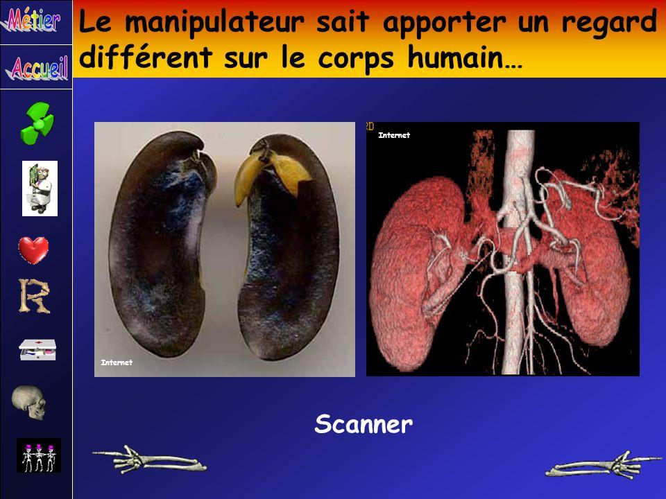 Le manipulateur sait apporter un regard différent sur le corps humain… Scanner Internet