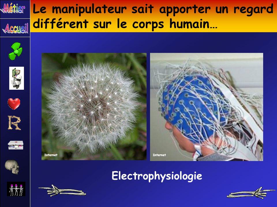 Le manipulateur sait apporter un regard différent sur le corps humain… Electrophysiologie Internet
