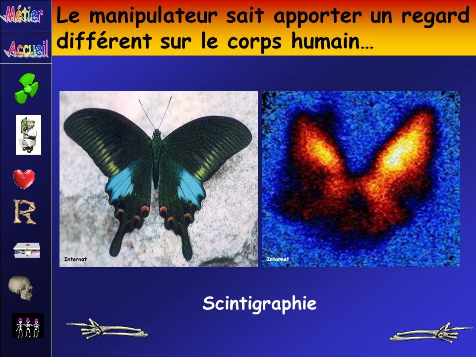 Le manipulateur sait apporter un regard différent sur le corps humain… Scintigraphie Internet