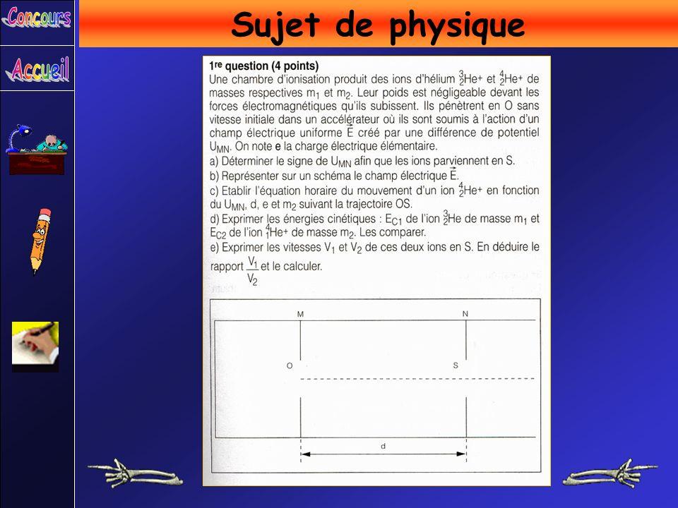 Sujet de physique