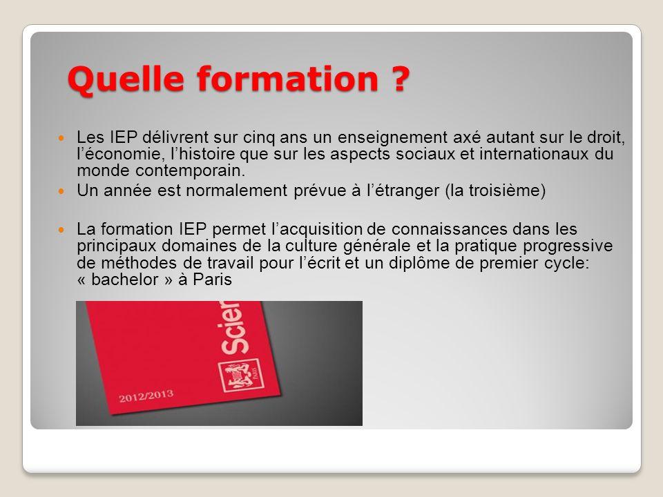 Les IEP de Grenoble et Bordeaux Grenoble: un IEP longtemps réputé pour sa section « économie et finance ».